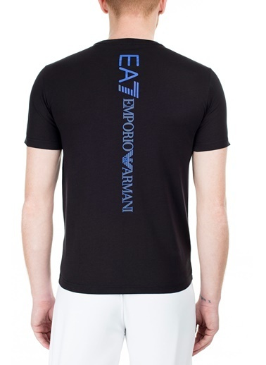 EA7 Emporio Armani  Regular Fit T Shirt Erkek T Shırt S 6Gpt15 Pj02Z 1200 Siyah